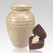 Cream Classic Marble Cremation Urns