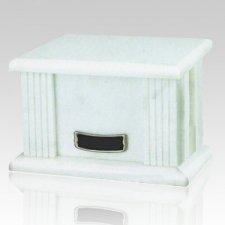 White Greek Marble Cremation Urn