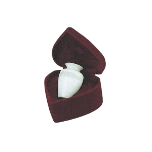 White Classic Small Marble Cremation Urn