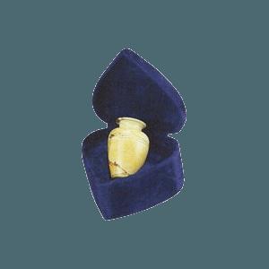 Teakwood Greek Small Marble Cremation Urn