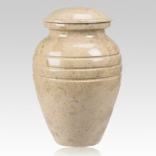 Cream Classic Marble Cremation Urn