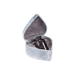 Black Classic Small Marble Cremation Urn