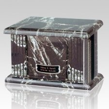 Black Greek Marble Cremation Urn
