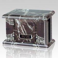 Black Greek Marble Cremation Urn