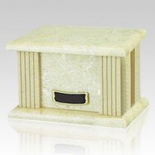 Cream Greek Marble Cremation Urn