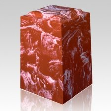 Rouge Marble Cremation Urn