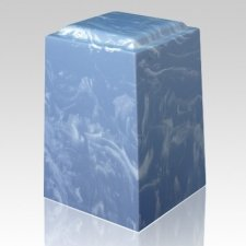 Wedgewood Tone Marble Cremation Urn