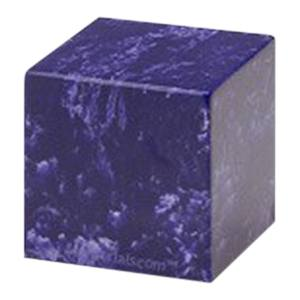 Cobalt Cube Pet Cremation Urns