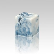 Sapphire Cube Pet Cremation Urns