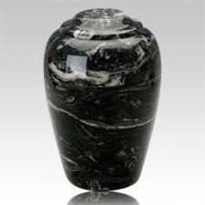 Grecian Ebony Marble Cremation Urns