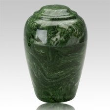 Grecian Emerald Marble Cremation Urn II