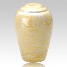 Grecian Gold Marble Cremation Urns