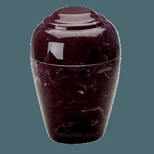 Grecian Merlot Marble Cremation Urn II