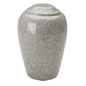 Grecian Mist Gray Granite Cremation Urn II