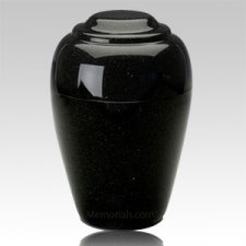 Grecian Orca Black Granite Cremation Urn II