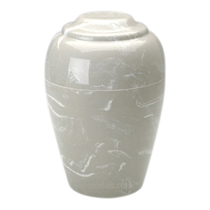 Silver Gray Pet Cremation Urn
