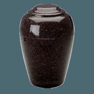 Grecian Vintage Red Granite Cremation Urn II