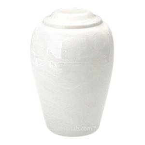 White Pet Cremation Urn
