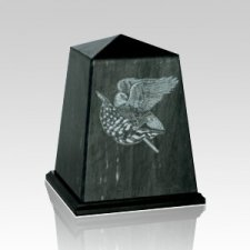 Obelisk Black Small Marble Urn