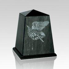 Obelisk Black Small Marble Urn