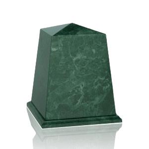 Obelisk Green Small Marble Urn