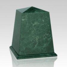 Obelisk Green Children Cremation Urn