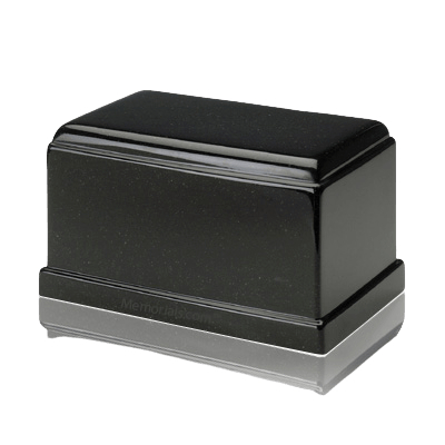 Olympus Orca Black Granite Cremation Urn