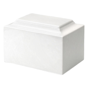 White Marble Individual Urn