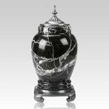 Black Zebra Pewter & Marble Cremation Urns