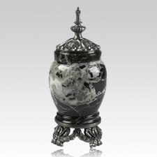 Black Zebra Pewter & Marble Medium Urn