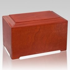 Marquis Cherry Wood Urn