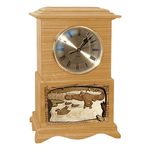 Marshland Clock Oak Cremation Urn