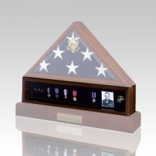 Flag Medal Walnut Display Case