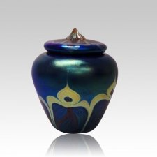 Peacock Art Medium Cremation Urn