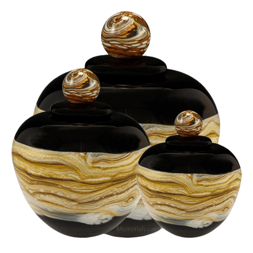 Memoriam Black Art Cremation Urns