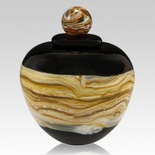 Memoriam Black Large Art Urn
