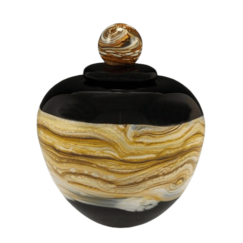 Memoriam Black Medium Art Urn