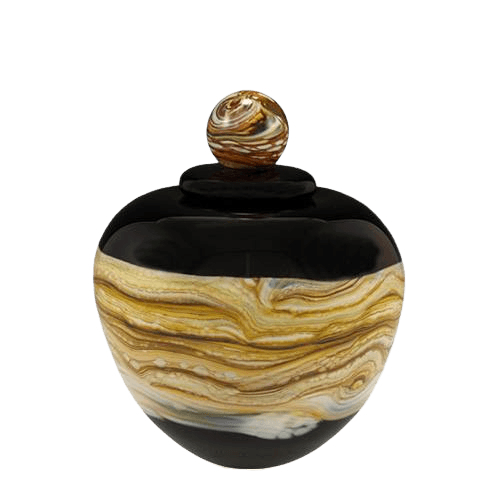 Memoriam Black Small Art Urn