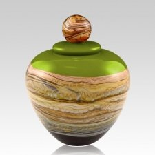 Memoriam Green Medium Art Urn