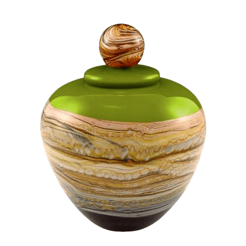 Memoriam Green Medium Art Urn