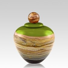 Memoriam Green Small Art Urn