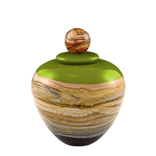 Memoriam Green Small Art Urn