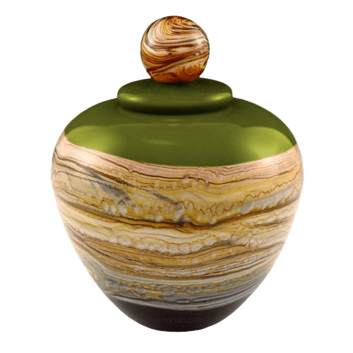 Memoriam Lime Large Art Urn