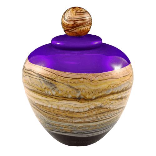 Memoriam Purple Large Art Urn