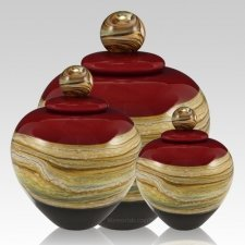 Memoriam Ruby Art Cremation Urns