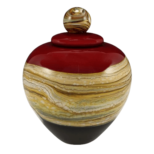 Memoriam Red Large Art Urn