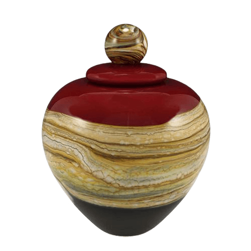 Memoriam Red Medium Art Urn