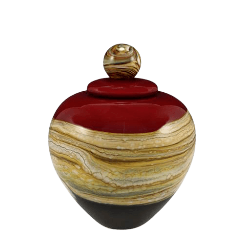 Memoriam Red Small Art Urn