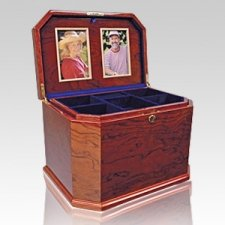 Bubinga Chest Companion Cremation Urn