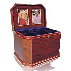 Bubinga Chest Companion Cremation Urn